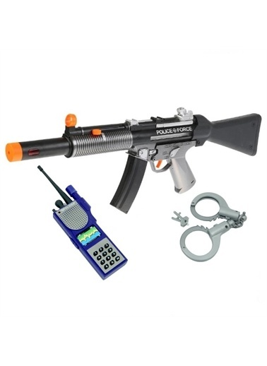 Güven Oyuncak Güven Oyuncak 34230 Power Gun Kelepçeli Renkli Polis Silah Seti Renkli